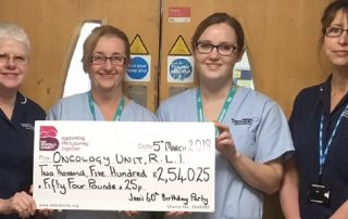 Janice Studholme has been fundraising for Oncology at RLI