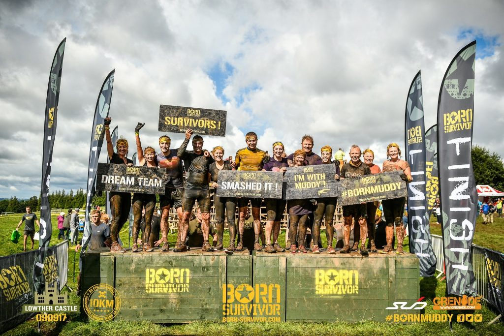 Our Born Survivor team at Lowther in 2017