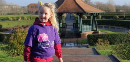 Emme-Rose out on her daily run in her Bay Hospitals Charity T-shirt