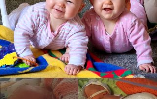 Willow and Dakota are happy and healthy after the care they received at Royal Lancaster Infirmary