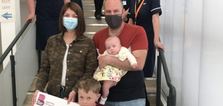 The Kavanagh family make their donation at Furness General Hospital
