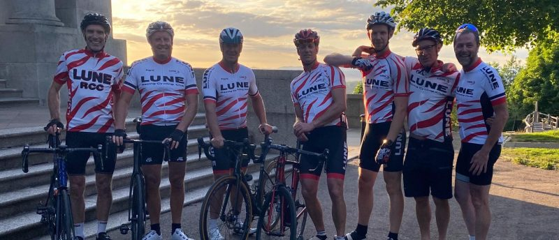 The Lune Racing Cycling Club team taking on the coast-to-coast-to-coast challenge