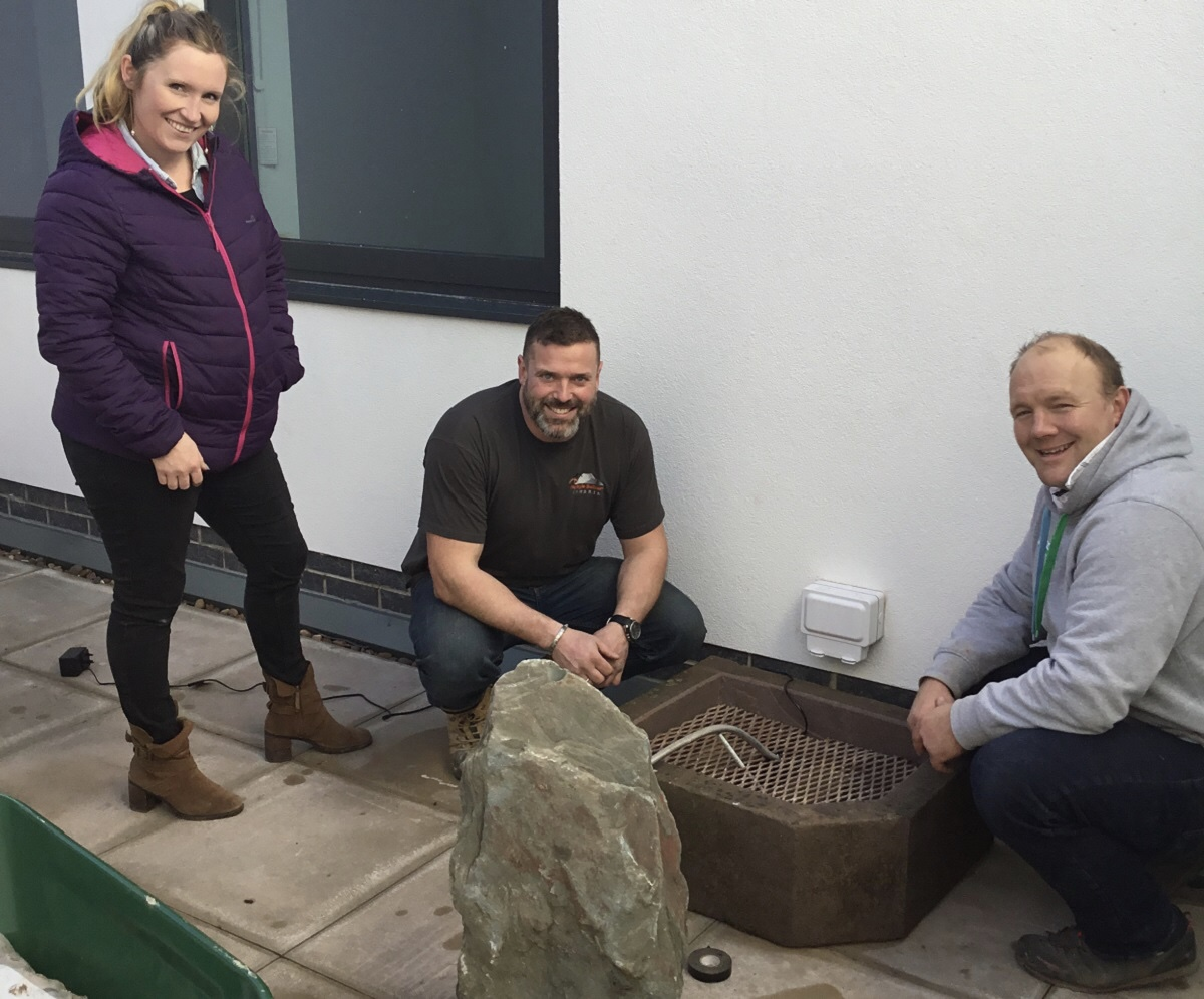 Bereavement garden at the South Lakes Birth Centre
