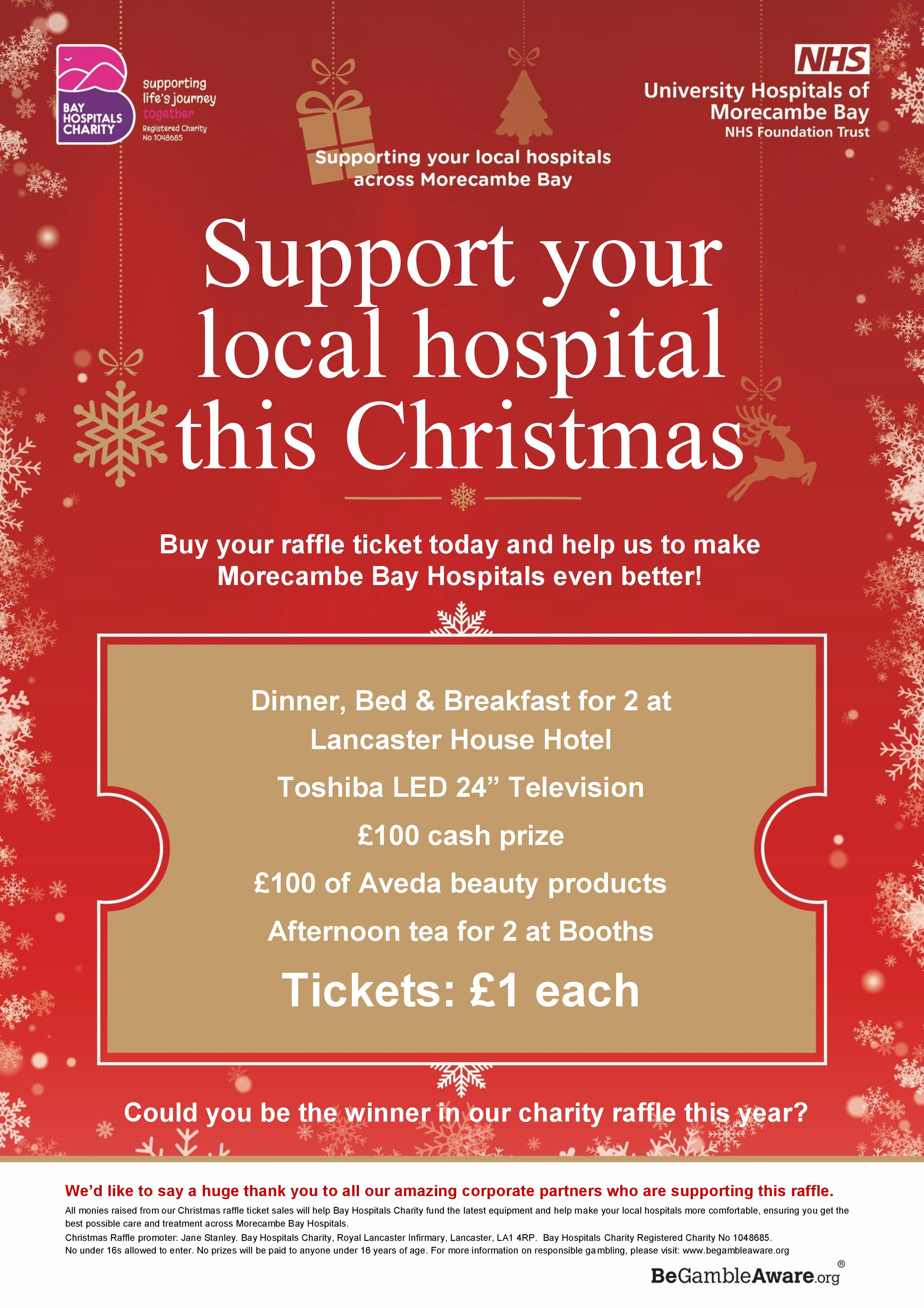Uhmbt Raffle Ticket Poster A4 Page 001 Bay Hospitals Charity
