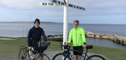 Hudson Nuttall and Nathan Briggs at the start of their adventure